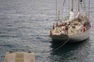 Schooner Argo at The Drop Anchor in Dominica