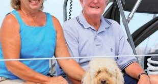 Ellie and Jim Watson with Labradoodle Cali