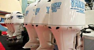 Yamaha Outboard Motors on display at the Miami Boat Show