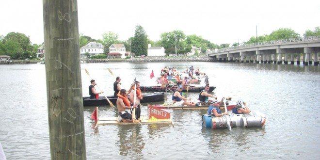 Freaky Kon Tiki Racing in the Hampton River