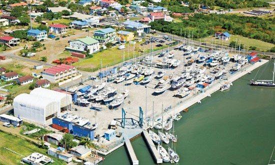 Rodney Bay Marina Boatyard. Courtesy of IGY Marinas