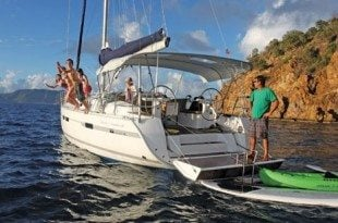 Time to cool off. Photo courtesy of Horizon Yacht Charters
