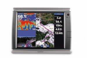 Garmin's top of the line 7215 touch screen chartplotter.
