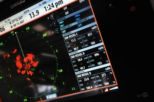 Simrad's NSS display with advanced radar capability.