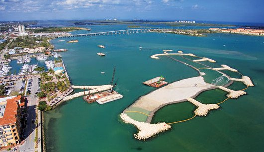 New islands in the Indian River. Courtesy of Fort Pierce City Marina