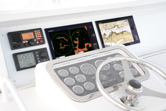 Furuno's NavNet TZtouch displays on a modern helm.