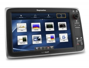 Raymarine's new eSeries chartplotter with its Lighthouse user interface homescreen