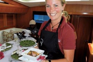 Chef Toni Leslie – S/Y Inukshuk. Photo Jan Robinson