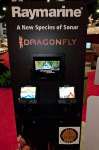 Raymarine's New Dragonfly chartplotter/fishfinder combo at the Miami Show