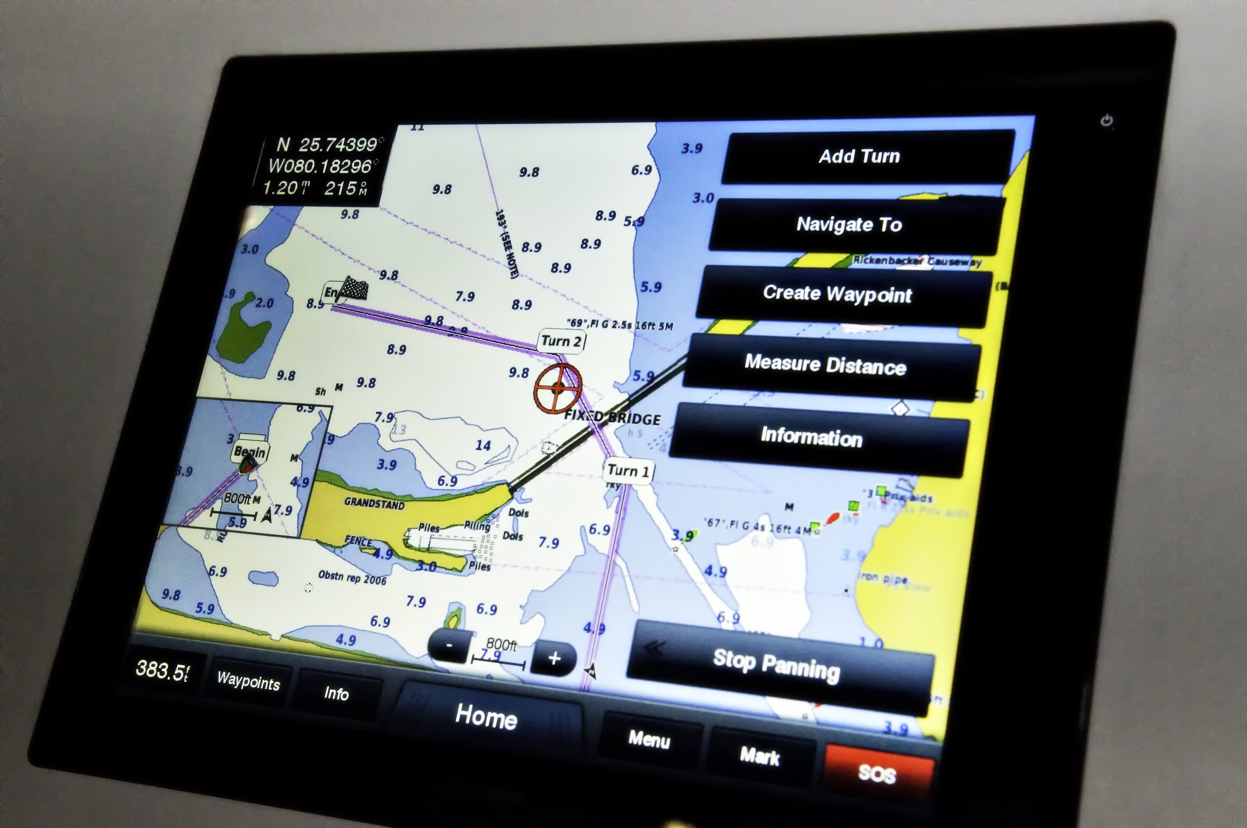 Garmins New 8000 Series Chartplotter On Display At The Miami Boat Show
