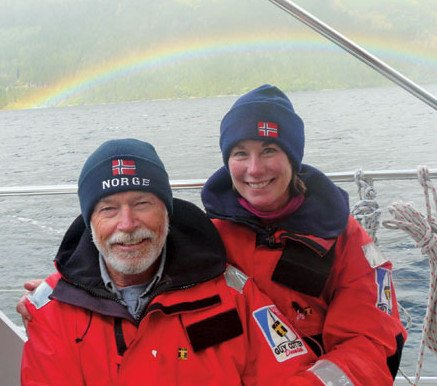 Stephen and Karyn James explore Norway. Photo courtesy of CCA