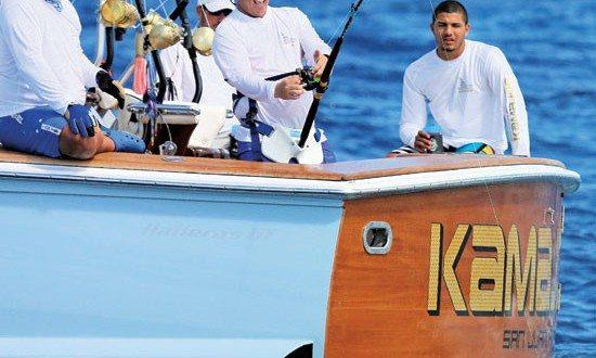 International Billfish Tournament Puerto Rico - Club Nautico de San Juan angler Jose Vicente fights Blue on Kamajoe. Photo courtesy of Virginia de los Reyes CNSJ