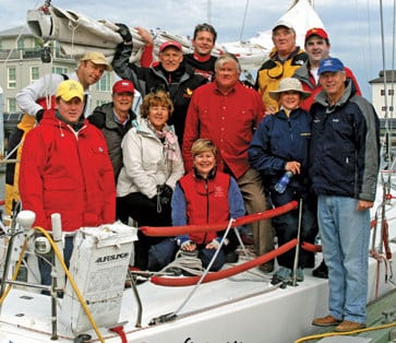 Sailing legend Gary Jobson (far right) has served as the national chairman of the Leukemia Cup Regatta series since 1993.He hosts the annual Fantasy Sail With Gary Jobson for Leukemia Cup Regatta participants who raise $10,000 or more at any Leukemia Cup event throughout the year. The 2010 Fantasy Sail was held in Charleston, S.C.Bill Hanckel (center, red shirt), owner ofEmocean, was among the Charleston area boat owners who provided their boats for use at the Fantasy Sail.