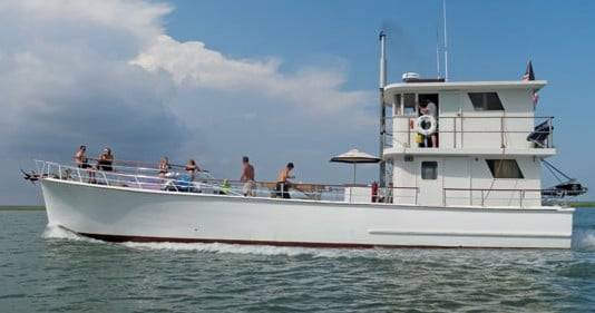 The classic Carolina vessel The Osprey has been re-born as a charter vessel in Charleston. Courtesy of Osprey Boat Charters