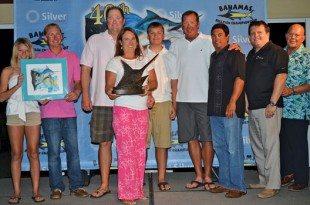 Cruiser Crews (third left), owner of Cowpoke, 61-Viking and winner of the 40th Bahamas Billfish Championship. Photo courtesy of the Bahamas Billfish Championship