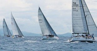 Smile and Wave (second right) won CSA Spinnaker Racing Class with six bullets in ten races. Photo courtesy of Menchu Agüeros