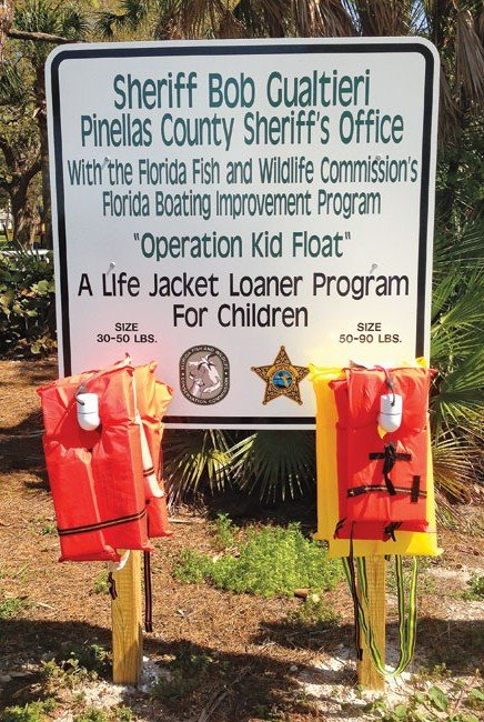 Operation Kid Float provides two sizes of loaner jackets for children. Photo by Glenn Hayes