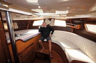 This aft cabin is so big, it can accommodate the captain's ego.