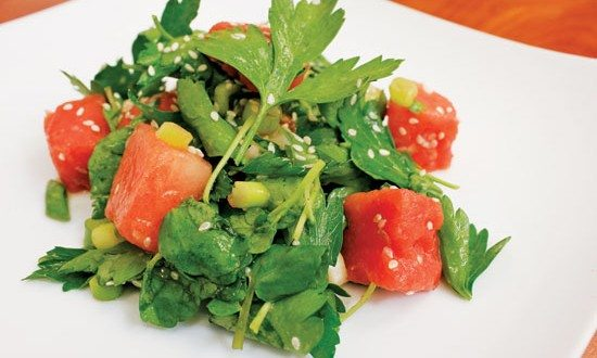 Salad Recipes » Watermelon and Watercress Salad with Shallot-Citrus ...