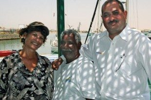 Carolyn with Heebi, Prince of the Red Sea, and Sayeed