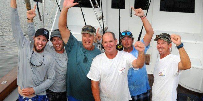 Photo: Team Wave Paver L to R: Ryan House, Jason Parker, Jr. Davis (Top Angler), Scott Glasscock, Jerry Owens and Capt. Jason Sinclair. Credit: Dean Barnes