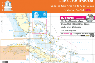 nv charts announces the release of their new chart set for Region 10.3 Cuba Southwest, covering the southwestern coast of Cuba