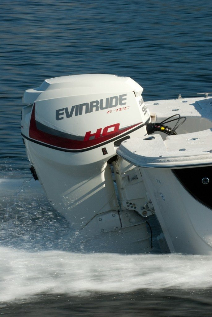 Evinrude's New 90 HP HO is a high performance engine in a small package.