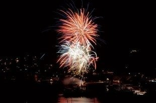 New Year's Eve fireworks in Bequia. Photo Courtesy Bequia NYE Celebration Committee