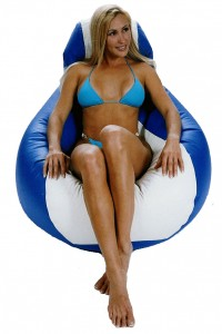 E-SeaRider's teardrop beanbag, a comfy seating solution.