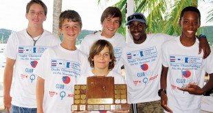 Team BVI - Caribbean Dinghy Champions 2013. Photo: Kevin Johnson - www.kevinjohnsonphotography.com