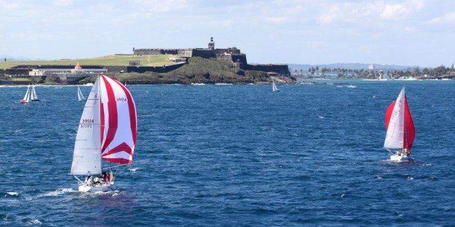 CSA race boats compete off San Felipe del Morro fort in 2013. Credit: Carlos G. Lee / Majaderos.com