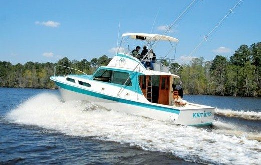 Knit Wits, the 41-foot prototype for the first production-line fiberglass-built boat, was restored in 2013, making her grand debut at the Fort Lauderdale International Boat Show. Photos Courtesy of Hatteras Yachts