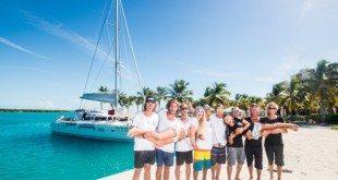 Enable Passion team L to R: Dennis Gijsbers (kiter); Filippo van Hellenberg Hubar (founder and kiter), Max Blom (kiter), Ike Frans (kiter), Eric 'Pequeno' Little (kiter), Eric van Vuuren (boat captain), Arne Ostby (boat owner), Bram de Vos (sailor) Lying: Camilla Ringvold (kiter), Sophie Cohen (team doctor)
