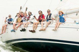 Sea Scouts aboard Peregrine. PhotoBoat