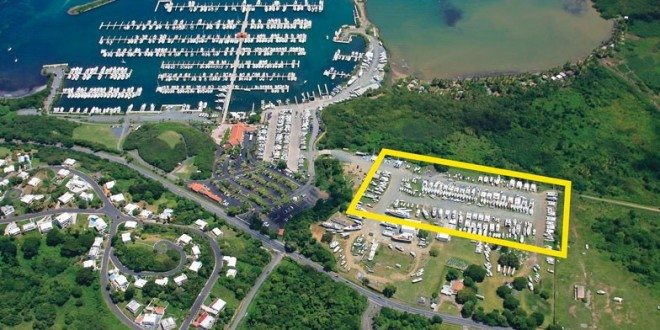 Puerto Del Rey hurricane storage highlighted in yellow