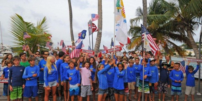 Over 100 junior sailors from the Caribbean, U.S. and World competed in 2013. Credit: Dean Barnes
