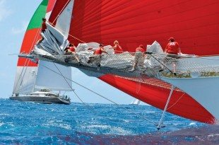 Red sails are always a winner. Photo: Rosemond Gréaux