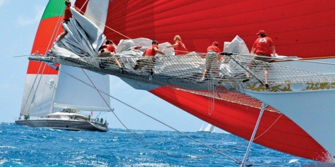 Red sails are always a winner. Photo: Rosemond Gréaux