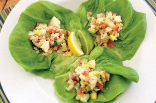 SHRIMP SALAD WITH CILANTRO LIME DRESSING