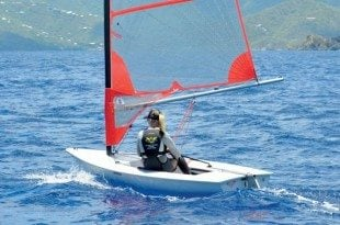 Paige Clarke, winner of the Commodores Cup seen here on her Byte. Photo: Barbara Hervey