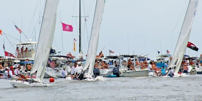 These are of the spectator fleet along the race course. Sea Island One Designs racing. Photo: Priscilla Parker