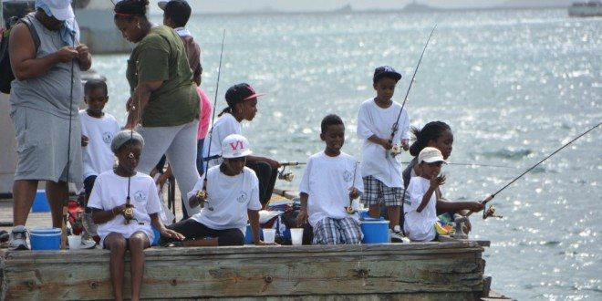 Over 200 kids fished in the Virgin Islands Game Fishing Club's Kid's Tournament. Credit: Dean Barnes