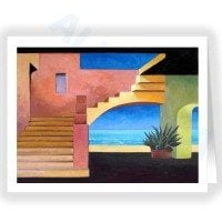 Seaside Casita Fine Art Note Card