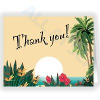 Thank You Note Card - Hawaiian Sunset