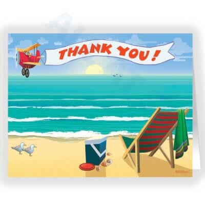 Beachside Enjoyment Thank You Card