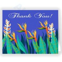Birds of Paradise Thank You Note Card