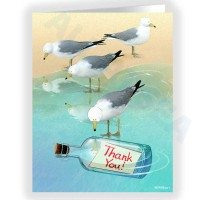 Seagulls Thank You Note Card