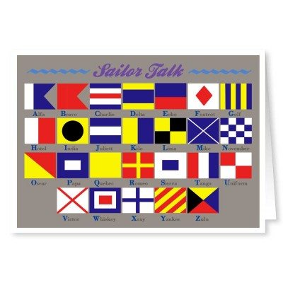 Maritime Signal Flag Boat Cards