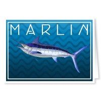 Blue Marlin Fishing Note Cards