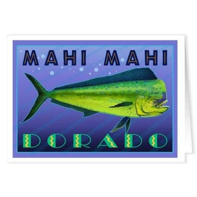 Mahi Mahi Fishing Note Cards